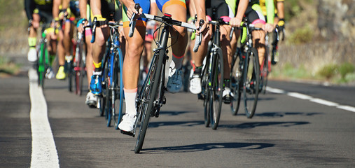 Cycling competition,cyclist athletes riding a race