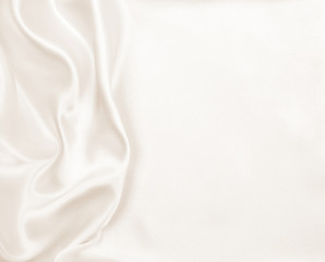 Smooth elegant golden silk or satin luxury cloth texture as wedd