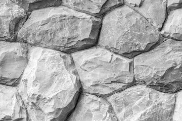 black and white granite rock wall texture
