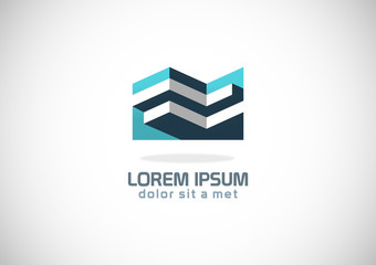 3D building company logo