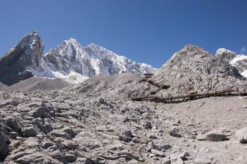 Jade Dragon Snow Mountain. Jade Dragon Snow Mountain is a mountain near Lijiang, in Yunnan province,China