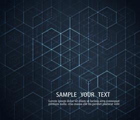 Dark abstract background Geometric design