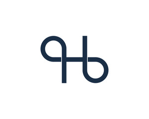 Letter H Loop Logo Design Element