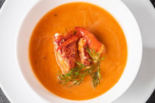 ロブスターのビスク フランス料理  French food Lobster Bisque