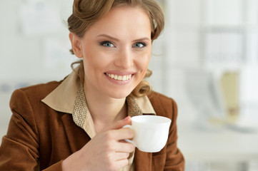 Woman drink tea