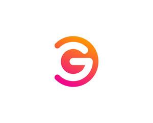 Letter G Modern Shape Logo Design Template Element
