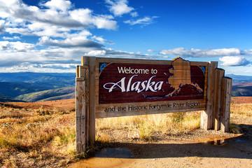 Alaska Welcome Sign Wall mural