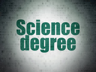Science concept: Science Degree on Digital Data Paper background