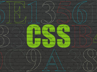 Programming concept: Css on wall background