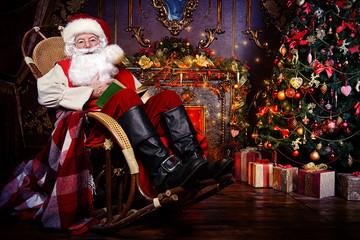 having rest Santa