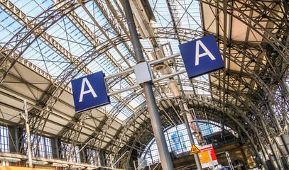 Gleisabschnitt A am Bahnhof