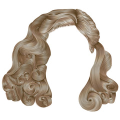trendy woman hairs  kare blond colors . beauty fashion .