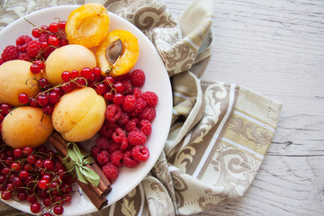currant and apricots