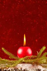 Christmas celebration candle