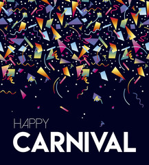 Happy Carnival party event poster design template