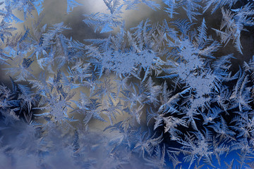 Fabulous patterns on frosty window