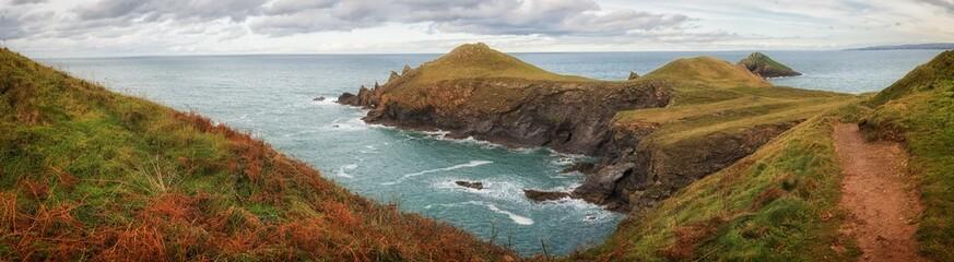 The rumps Cornwall England uk panorama