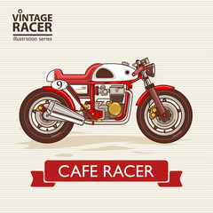 Vintage Racing Motorcycle