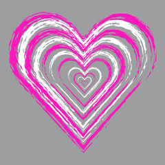 Hearts on grey background