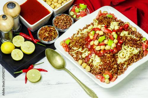 Arabic cuisine, Traditional Egyptian food: Kushary of rice