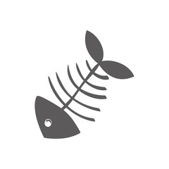 Cartoon fish skeleton icon vector illustration graphic design
