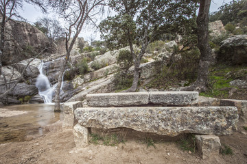 falls and stone table