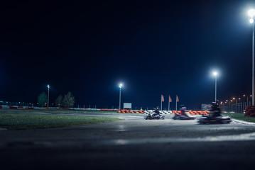 Blurred karting race