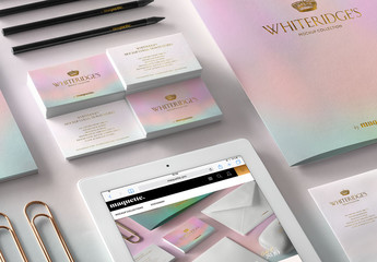 Luxury Gold-Embossed Corporate Stationery Mockup 9