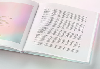 Open Square Book Mockup 2