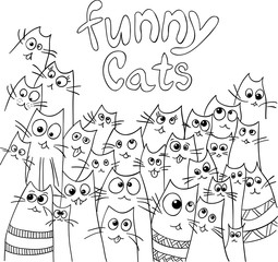 Funny cats design.