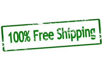 One hundred percent free shipping