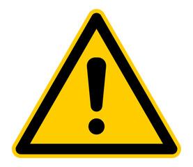 wso267 WarnSchildOrange - Warnsymbol - xxl g4813