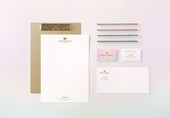 Luxury Gold-Embossed Corporate Stationery Mockup 22