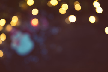 Abstract Bokeh blurred color light Christmas, New Year and other holiday background