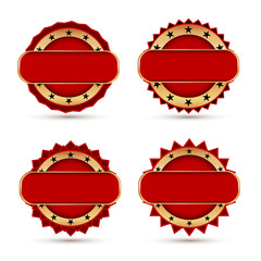 Vintage Red Labels template set.