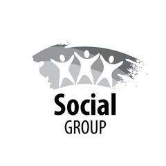 vector logo social group