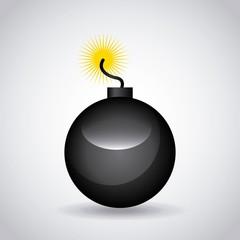 boom icon over white background. colorful design. vector illustration