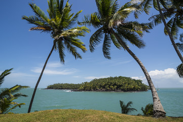 View of Saint Joseph from the Royal Island, Iles du Salut, French Guiana, Department of France, South America