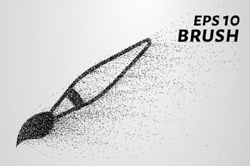 Brush particles. The brush consists of circles and points. Vector illustration