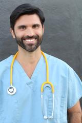 Doctor Portrait Smiling - Stock image