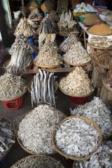 Dried fish in the market, Monywa, Myanmar (Burma), Southeast Asia