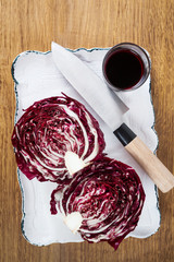 vegetable juice. Fresh red Radicchio Lettuce