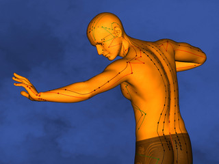 Acupuncture model M-POSE Ma-s-90-03.png , 3D Model