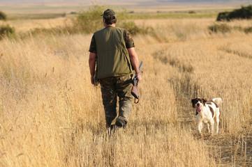 Hunter with munsterlander