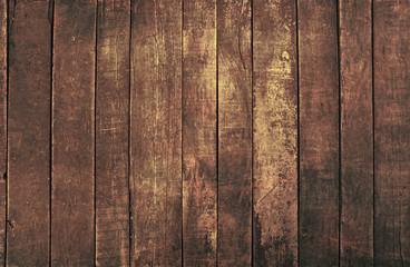Obraz Old vintage dark brown wooden planks background - fototapety do salonu