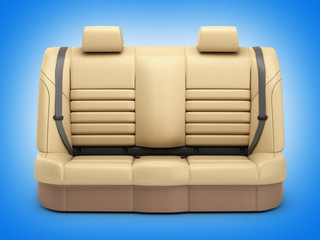 Car seat on blue background 3d render