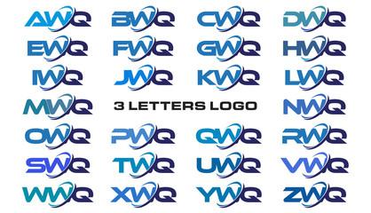 3 letters modern generic swoosh logo  AWQ, BWQ, CWQ, DWQ, EWQ, FWQ, GWQ, HWQ, IWQ, JWQ, KWQ, LWQ, MWQ, NWQ, OWQ, PWQ, QWQ, RWQ, SWQ, TWQ, UWQ, VWQ, WWQ, XWQ, YWQ, ZWQ