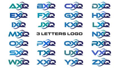 3 letters modern generic swoosh logo  AXQ, BXQ, CXQ, DXQ, EXQ, FXQ, GXQ, HXQ, IXQ, JXQ, KXQ, LXQ, MXQ, NXQ, OXQ, PXQ, QXQ, RXQ, SXQ, TXQ, UXQ, VXQ, WXQ, XXQ, YXQ, ZXQ