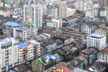 Old city, Yangon (Rangoon), Myanmar (Burma), Asia