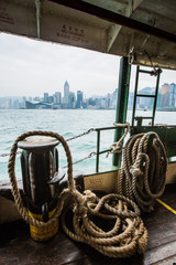 Star Ferry with Hong Kong in the background, Hong Kong, China, Asia